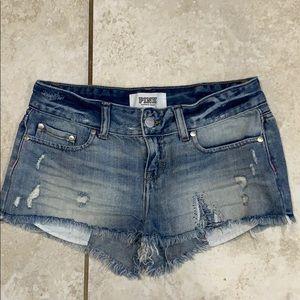 Pink Victoria's Secret Destroyed Denim Shorts 2
